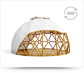 360 geodesic dome gazebo